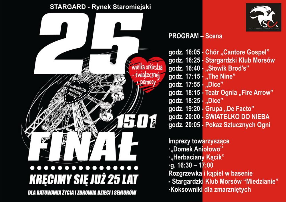 25. Finał Wielkiej Orkiestry Świątecznej Pomocy w Stargardzie