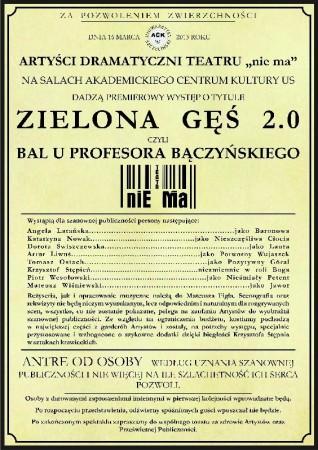 Zielona Gęś 2.0: czyli Bal u Profesora Bączyńskiego