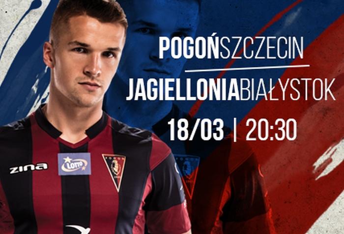 Mecz Pogoń Szczecin - Jagiellonia Białystok