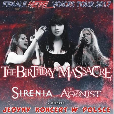 Female Metal Voices - The Birthday Massacre, Sirenia i The Agonist + goście