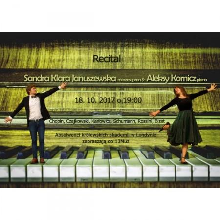 Sandra Klara Januszewska (mezzosopran) i Aleksy Kornicz (piano): recital