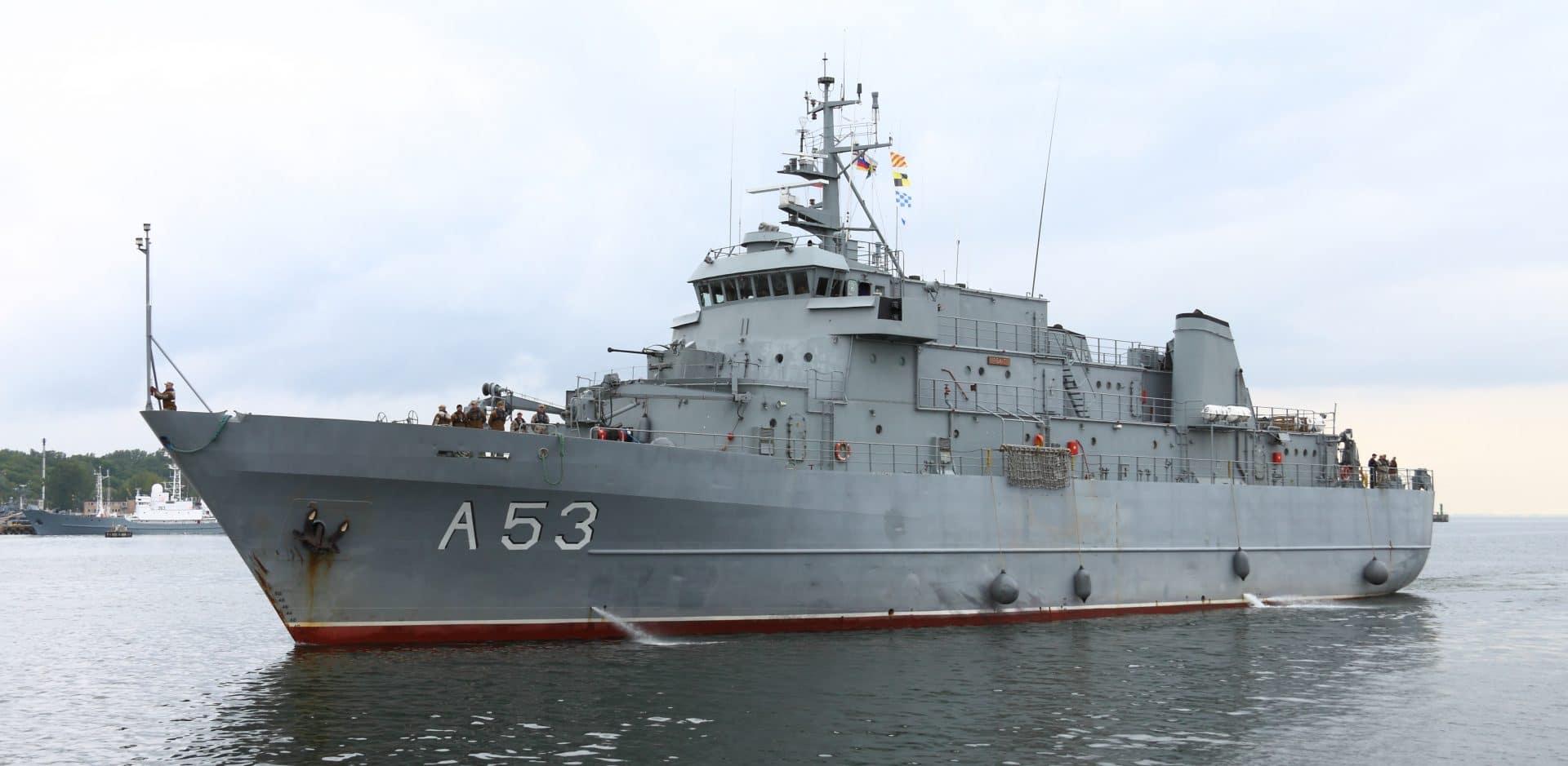okręty wojenne wSzczecinie