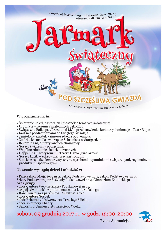 """Jarmark Świąteczny """"Pod Szczęśliwą Gwiazdą"""""""