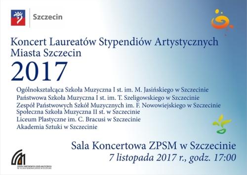 Koncert Laureatów Stypendiów Artystycznych Miasta Szczecin 2017