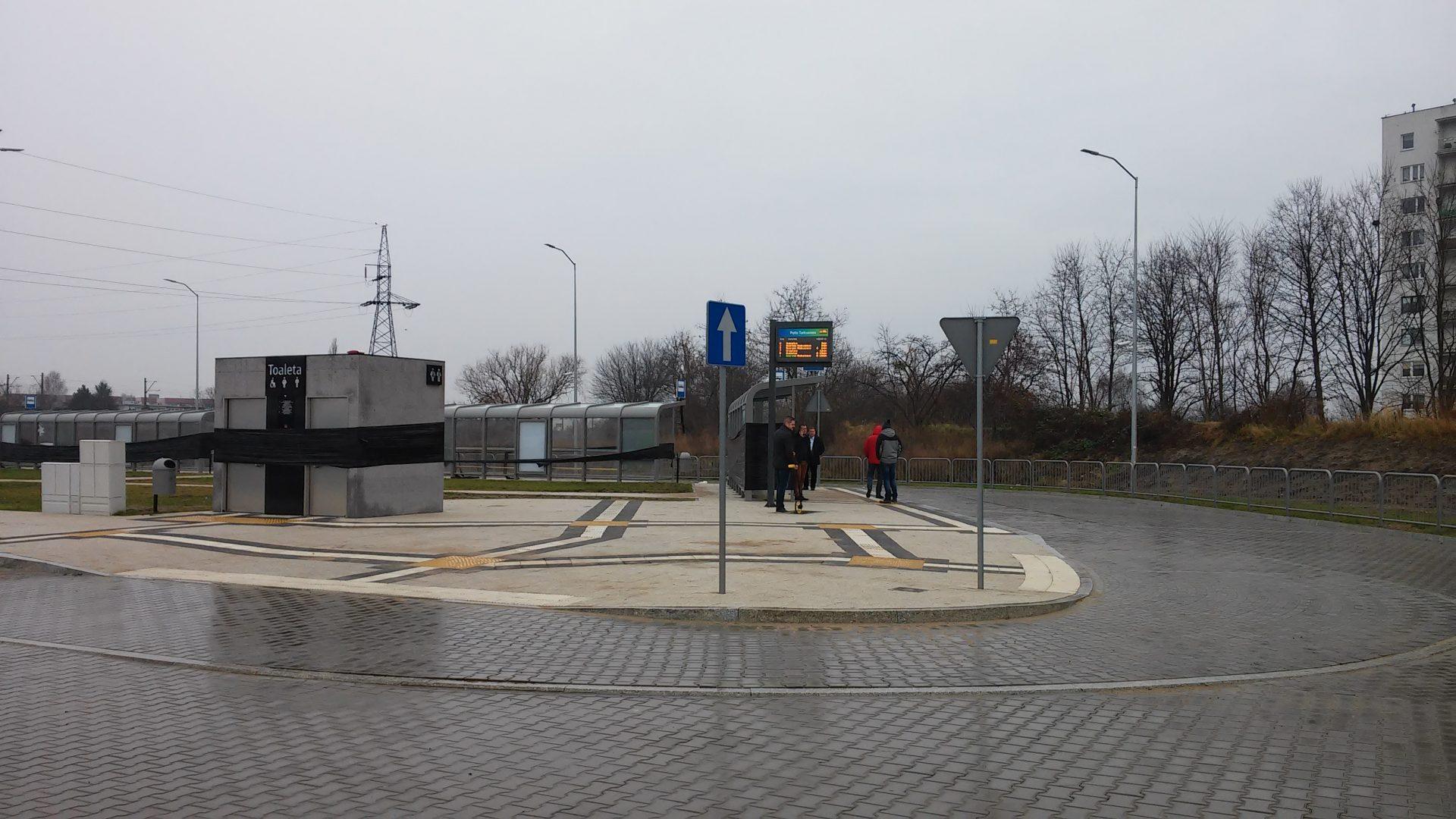 pętla autobusowa przy ulicy Turkusowej