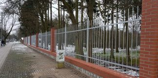 ogrodzenie na Cmentarzu Centralnym