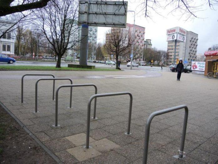 stojaki rowerowe w Szczecinie