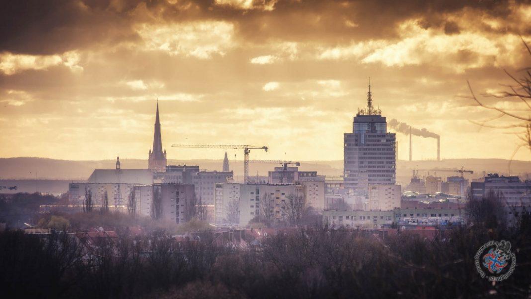 centrum Szczecina gęstość zaludnienia