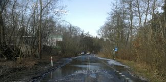 ulica Tczewska zalana