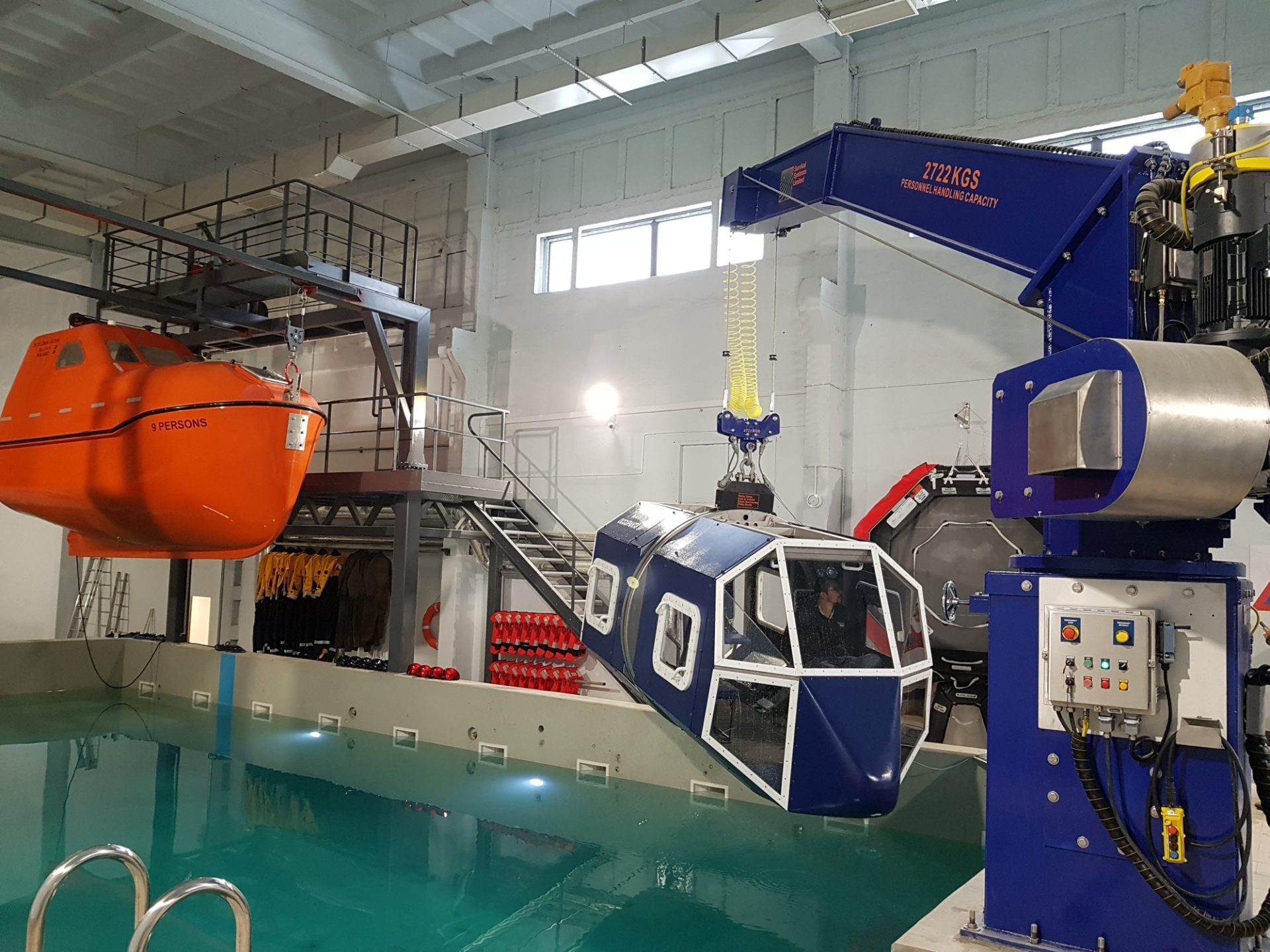 symulator tonącego helikoptera
