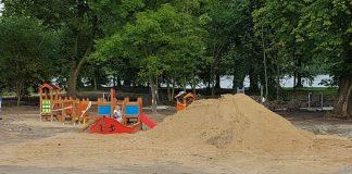 wymiana piasku w szczecińskich piaskownicach