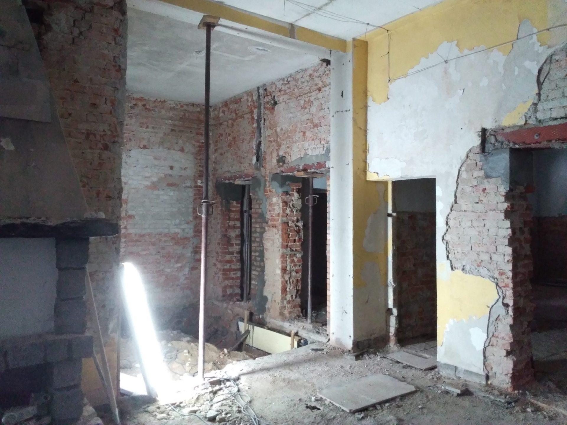 pierwszy etap przebudowy zajazdu Szmaragd