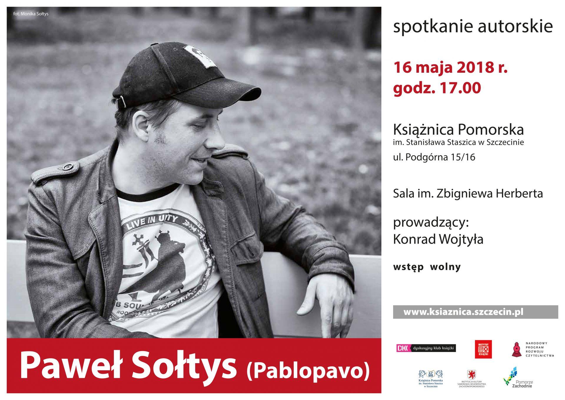 """Spotkanie autorskie z Pawłem Sołtysem """"Pablopavo"""""""