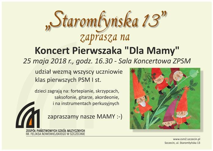"""Koncert Pierwszaka """"Dla Mamy"""""""