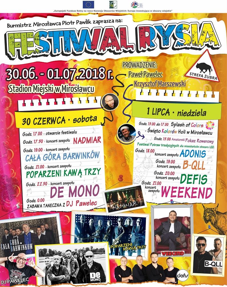 Festiwal Rysia 2018 w Mirosławcu
