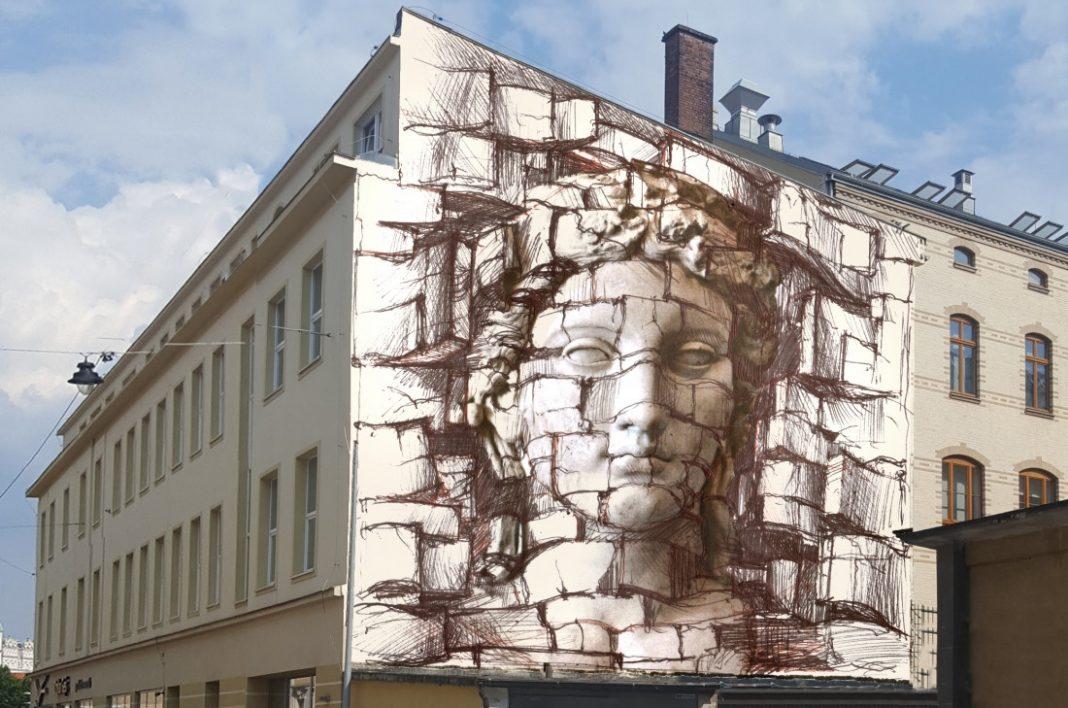 Mural iluzjonistyczny 3D