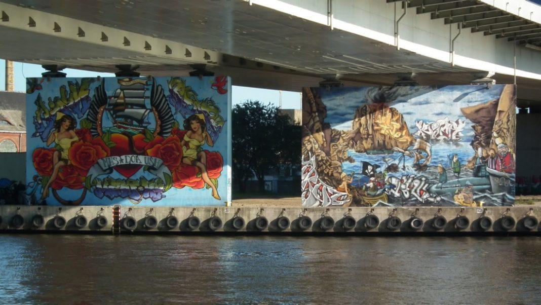 murale na filarach Trasy Zamkowej