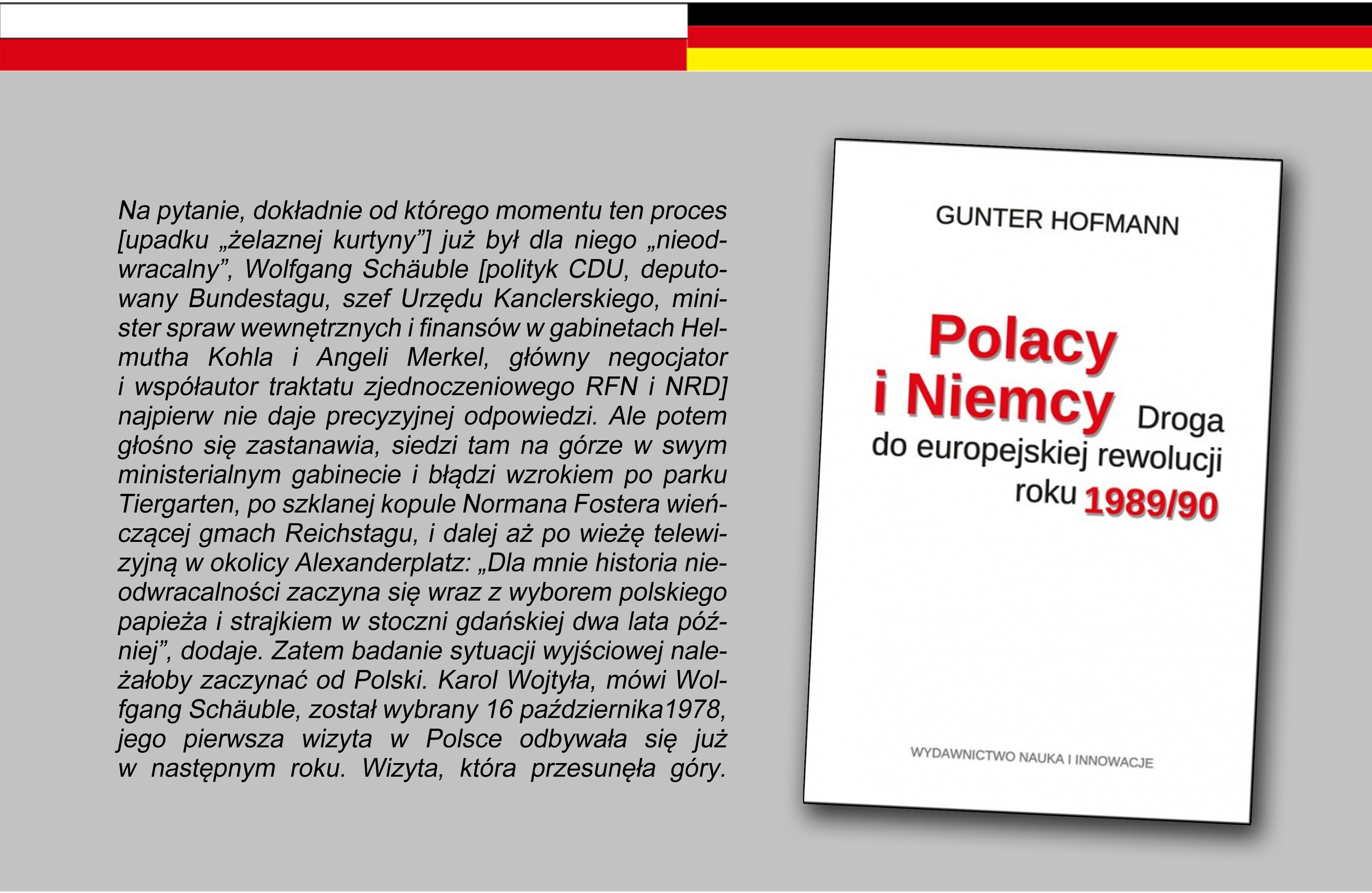 Spotkanie: Polacy i Niemcy. Cud roku 1989?