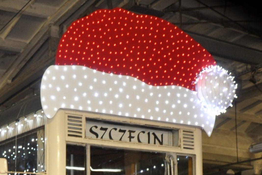 świąteczny tramwaj Szczecin