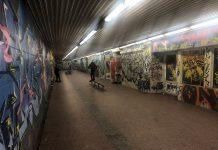 skate park przejście podziemne