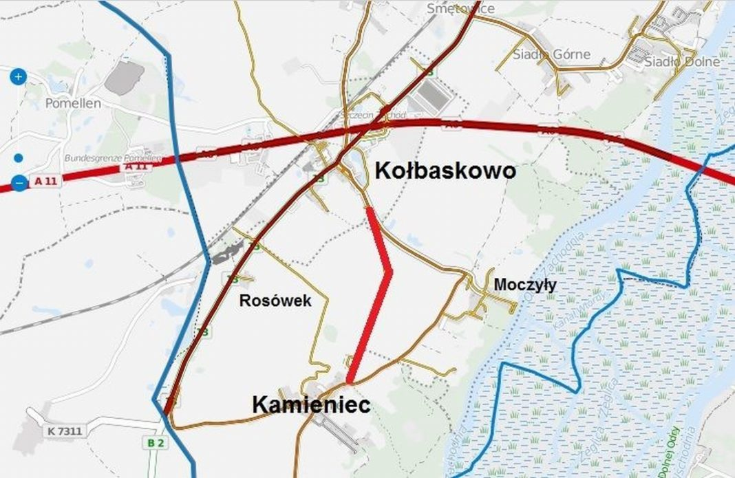 szlak pieszo-rowerowy Kołbaskowo Kamieniec