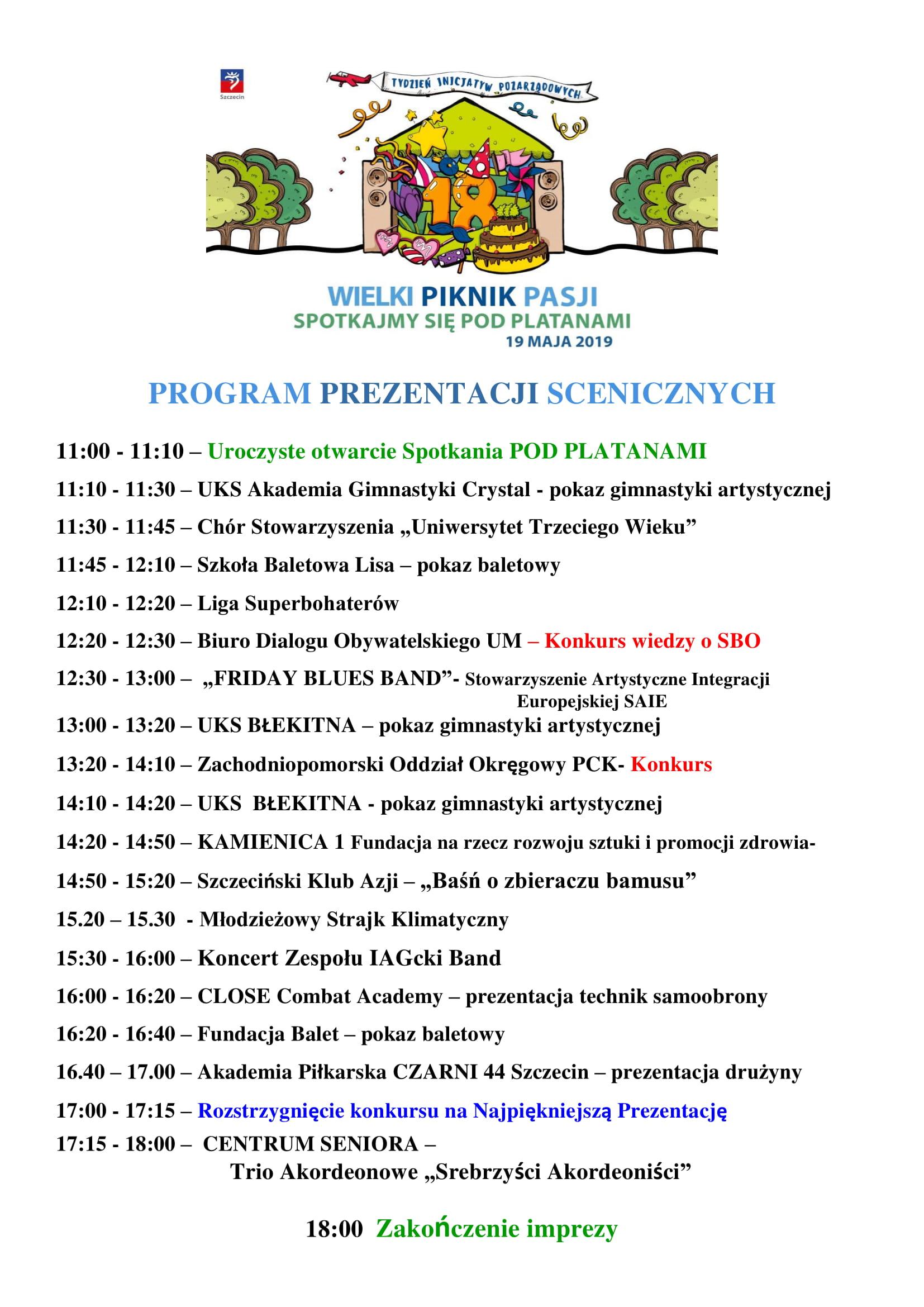 18. Szczecińskie Spotkania Organizacji Pozarządowych PodPlatanami