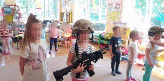 broń przedszkole Przemysław Słowik