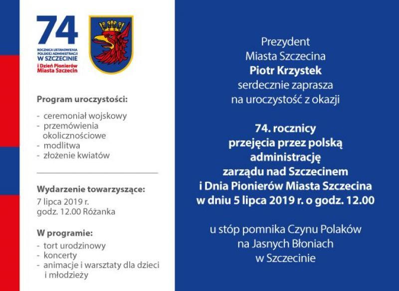 74. Urodziny Szczecina - Dzień Pionierów Miasta Szczecina
