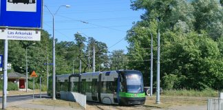 pętla Las Arkoński tramwaje