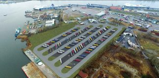 parking ciężarówki Świnoujście