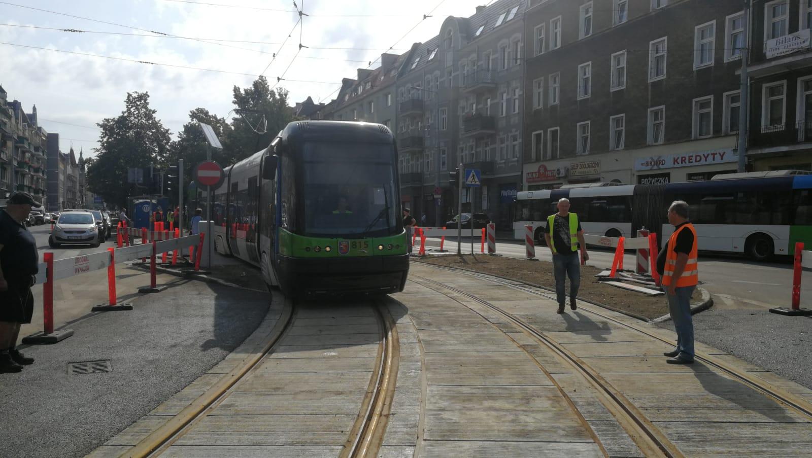 tramwaje ulica Krzywoustego Szczecin