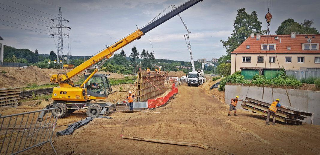Węzeł Łękno wiadukty instalacje