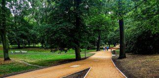 Park Żeromskiego alejki remont
