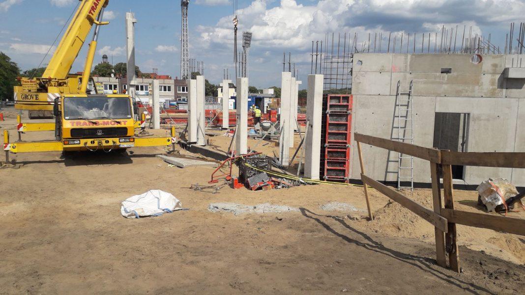 Stadion Miejski budowa sierpień 2019