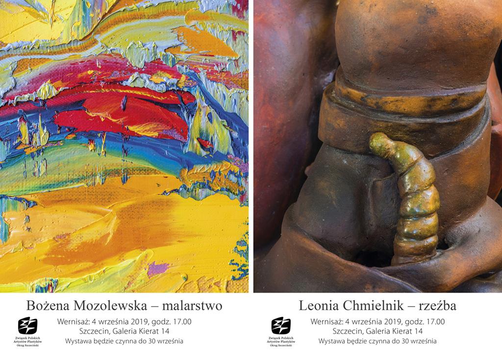 Wystawa malarstwa Bożeny Mozolewskiej i rzeźby Leonii Chmielnik