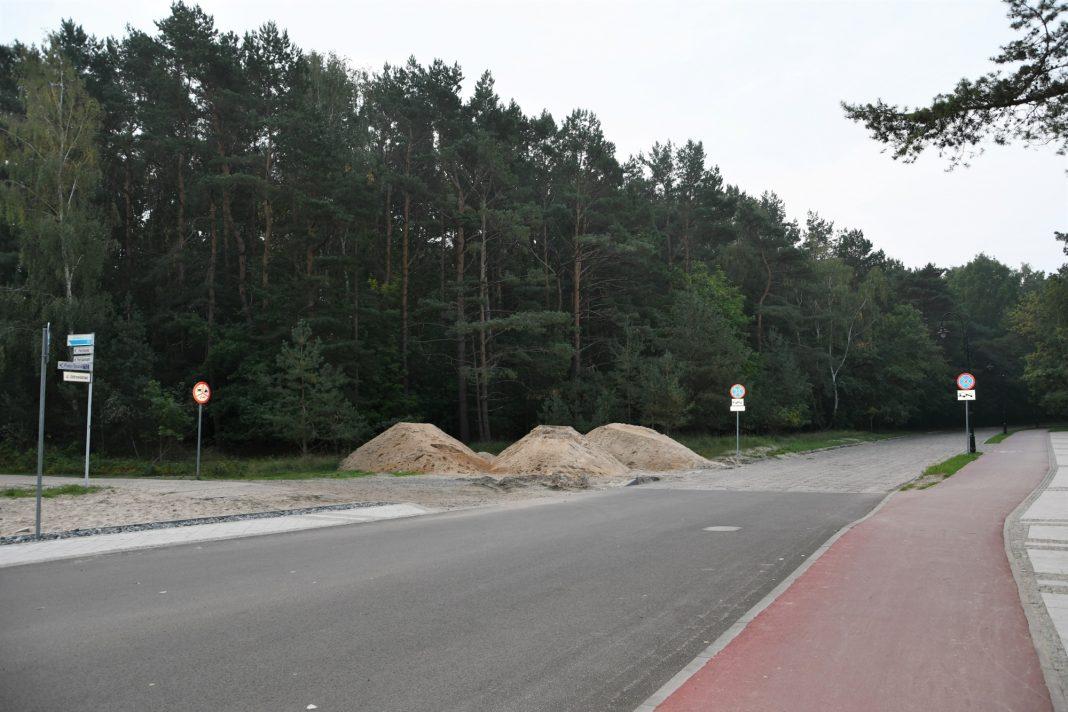 ścieżka rowerowa wzdłuż promenady Świnoujście