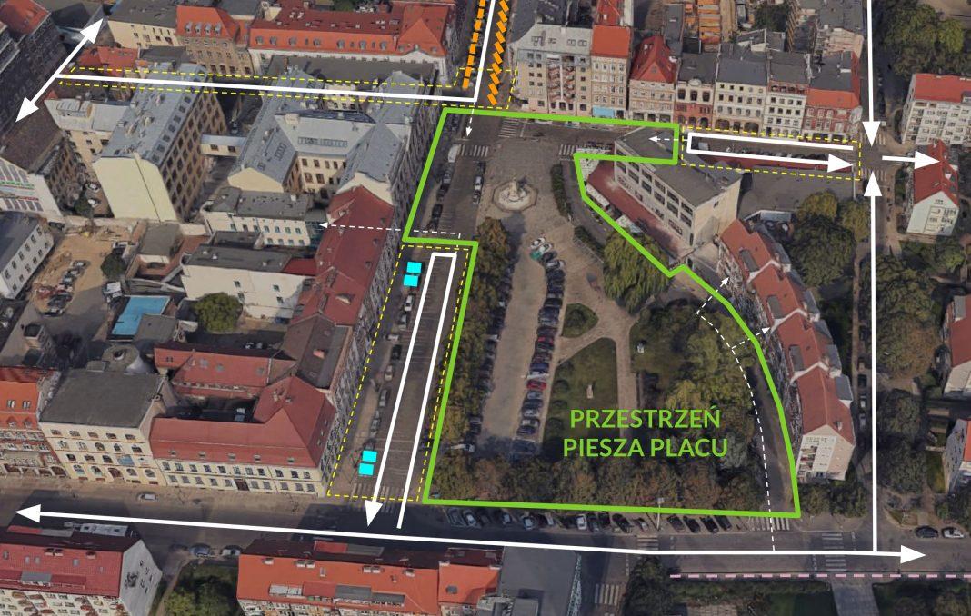 plac Orła Białego trzeci wariant