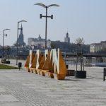 wielki napis Szczecin bulwary