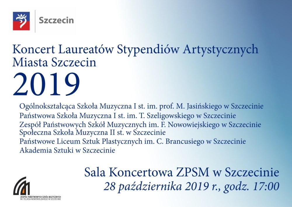 Koncert laureatów Stypendiów Artystycznych Miasta Szczecin