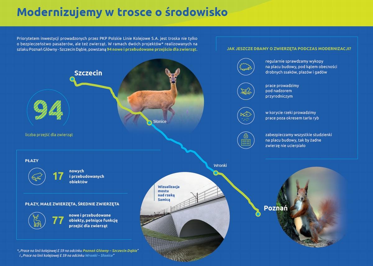 Poznań-Szczecin przejścia dla zwierząt