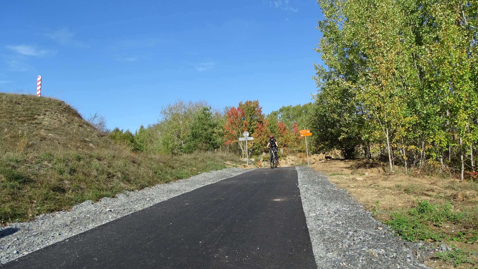droga rowerowa Rosówek granica