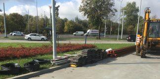 pęknięte spawy ul. Gdańska naprawa