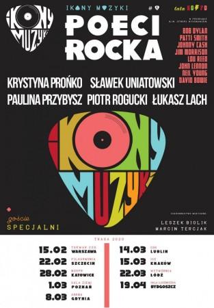 """IKONY MUZYKI: """"POECI ROCKA"""" - nowa trasa koncertowa z kultową muzyką"""