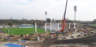 Stadion Miejski tymczasowe oświetlenie