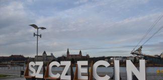 napis Szczecin Łasztownia