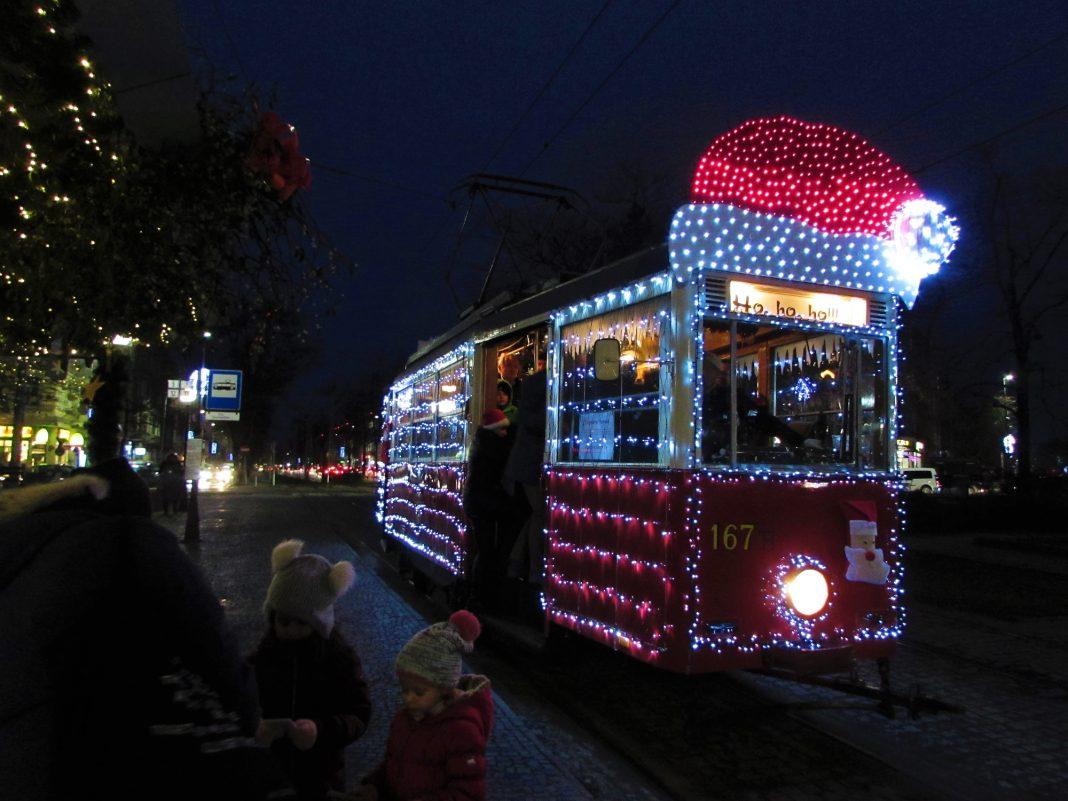 świąteczny tramwaj grudzień 2019