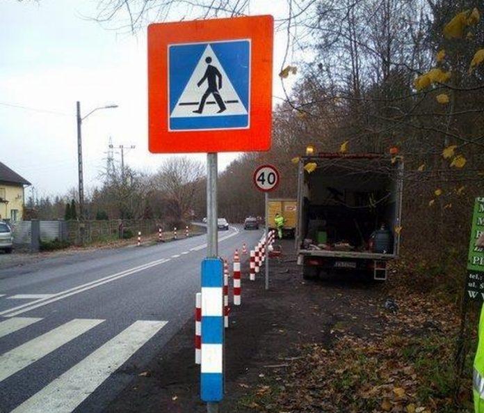 przejście dla pieszych tablice ostrzegawcze