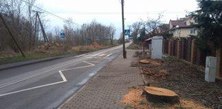droga Szczecin Warnik wycinka drzew