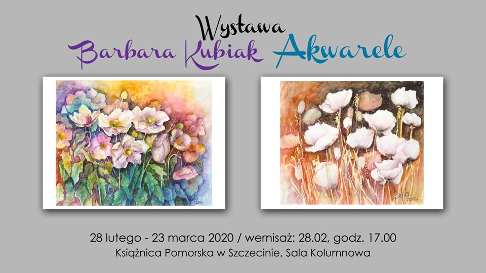 """Wernisaż wystawy Barbary Kubiak """"Akwarele"""""""