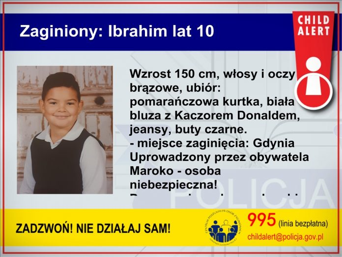 child alert Ibrahim Gdynia